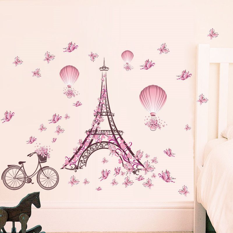Romantic Paris Eiffel Tower Wall Sticker //Price: $9.14 U0026 FREE Shipping //  #housedecoration