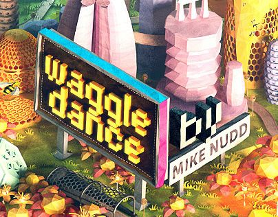 "다음 @Behance 프로젝트 확인: ""Waggle Dance - lowpoly bee world!"" https://www.behance.net/gallery/19419211/Waggle-Dance-lowpoly-bee-world"