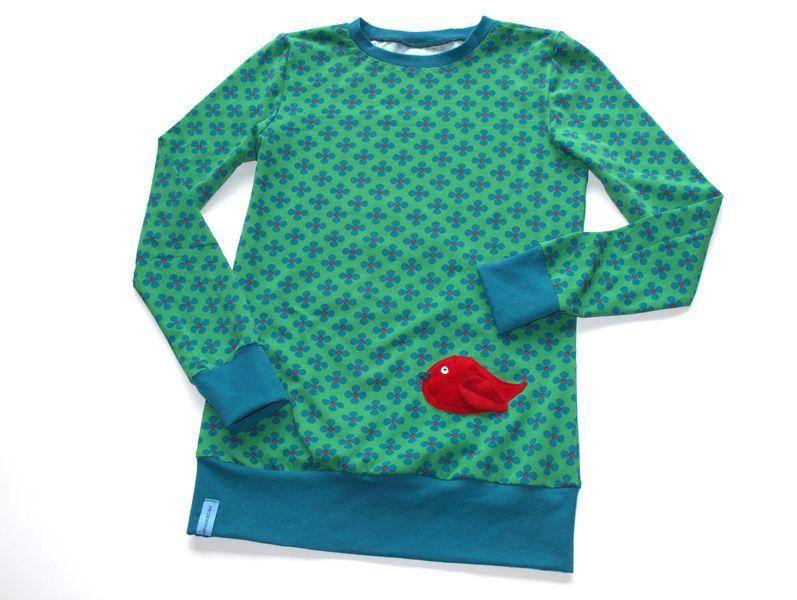 SHIRT Pullover ♥Vögelchen auf Glücksklee♥ von Herzenskinder-Design auf DaWanda.com