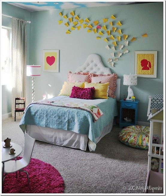 find this pin and more on alexs room 22 cool toddler girl room ideas love the butterfly wall - Toddler Girl Bedroom Decorating Ideas
