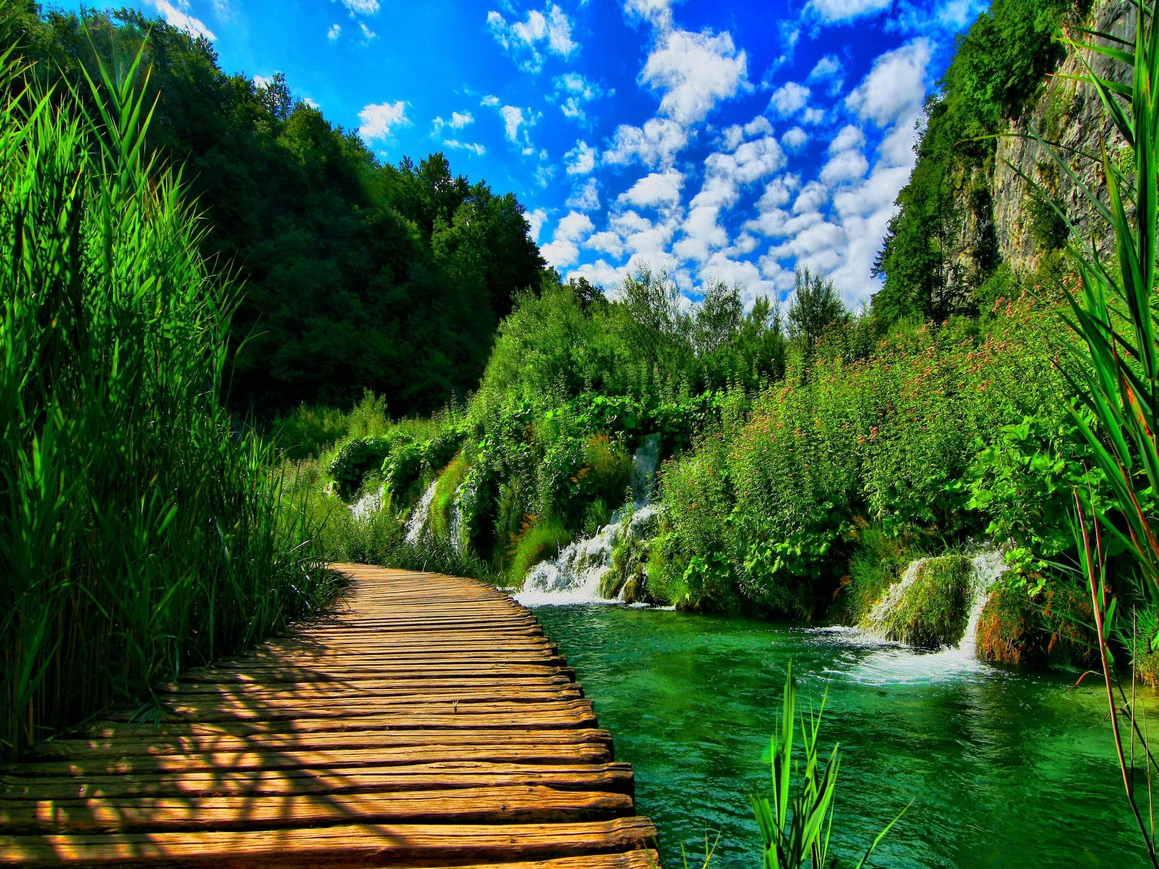 Download Nature Background Pc Hd Free Nature Background Pc Download Download Downl Beautiful Nature Desktop Background Nature Plitvice Lakes National Park