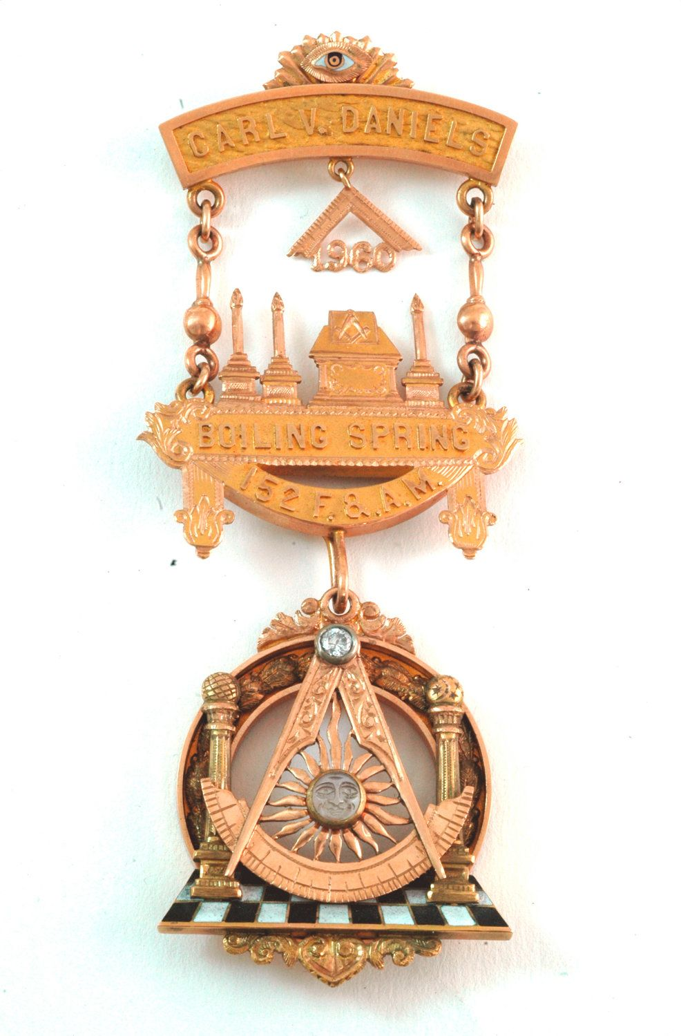Vintage Gold Masonic Medal / Pin  $2,150 00, via Etsy  Visit