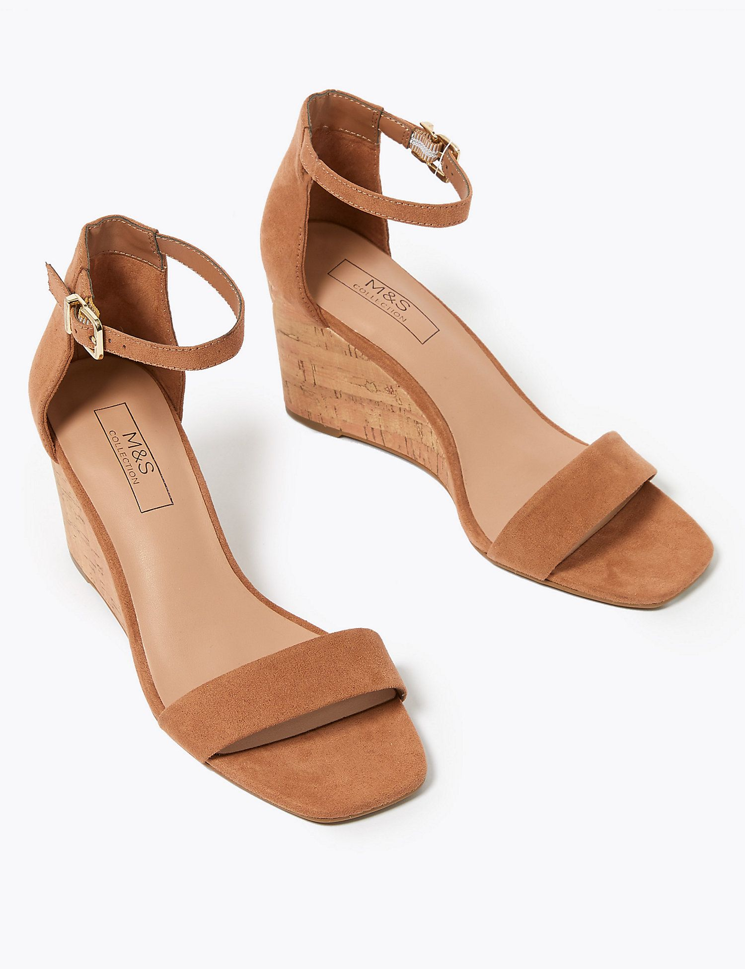 Wedge sandals, Ankle strap wedges, Wedges