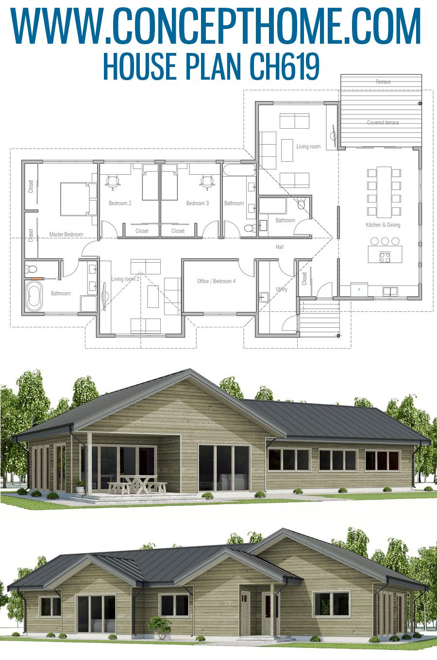 Floor Plan Ch619 House Plans Dream House Plans Floor Plans