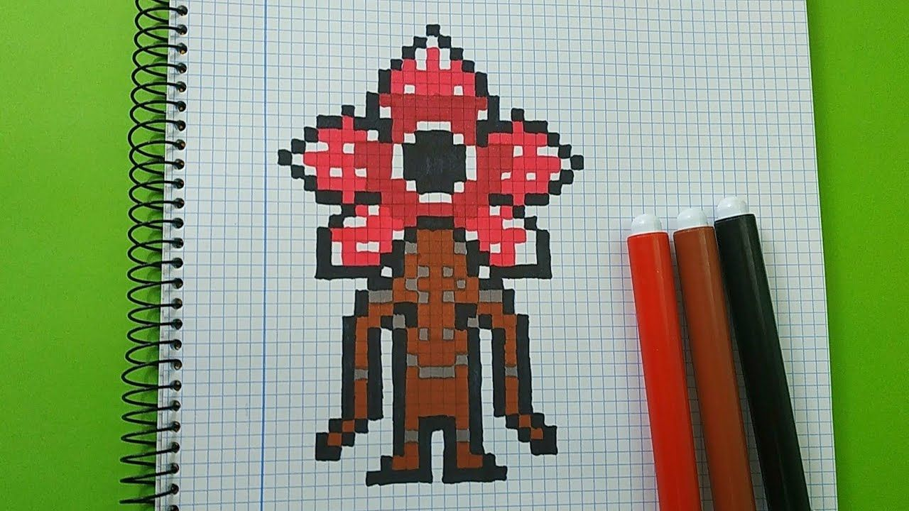 Como Dibujar Al Demogorgon De Stranger Things Pixel Art