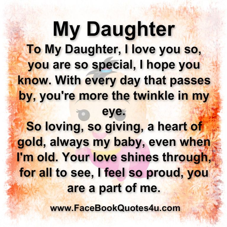 Facebook Quotes About Daughters | FaceBook Quotes