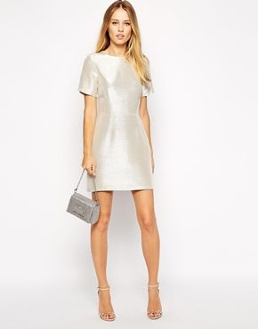 Enlarge Warehouse Metallic Shift Dress