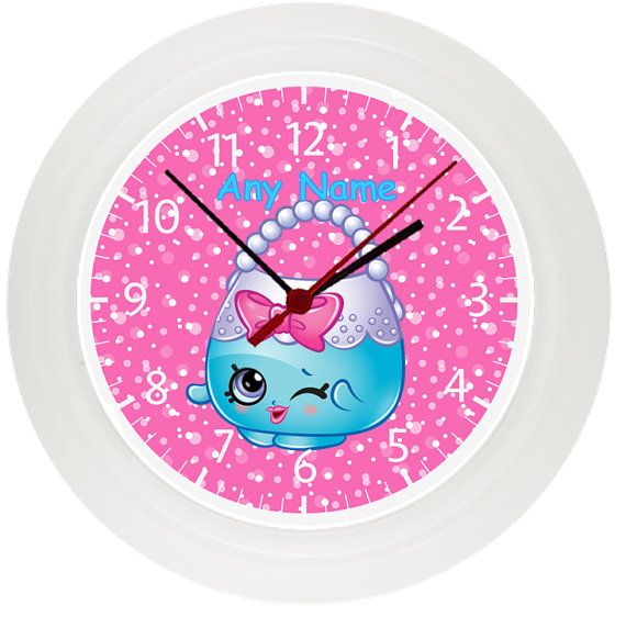 Personalized SHOPKINS wall clock Children\'s Bedroom ...