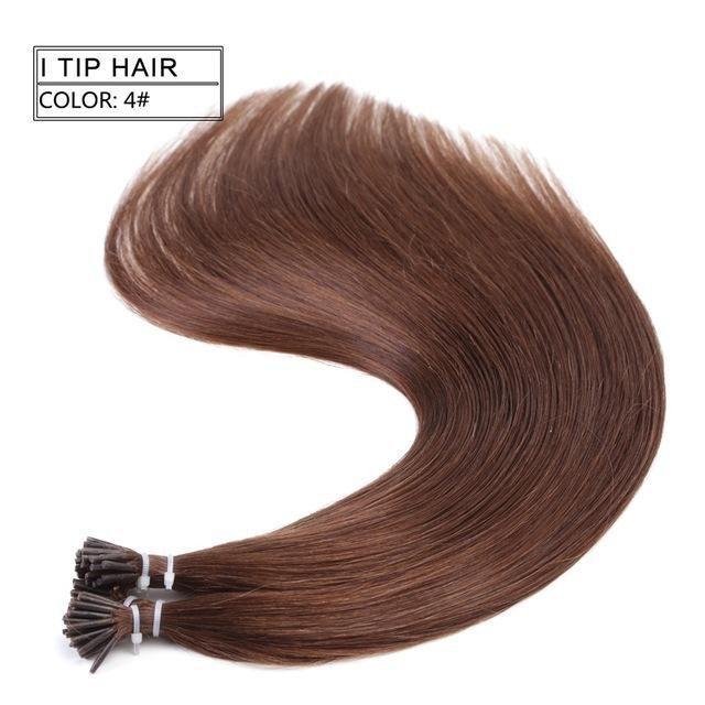 Neitsi Straight Brazilian Fusion Hair I Tip Stick Tip Keratin Hair