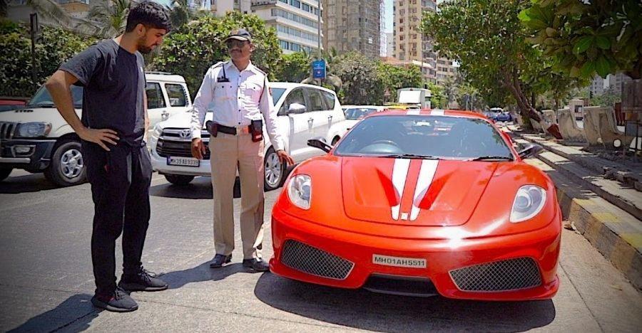 Cops Stop India S Only Ferrari F430 Scuderia Supercar Let It Go