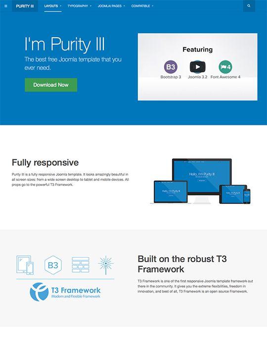 JA Purity III - the best free responsive Joomla template