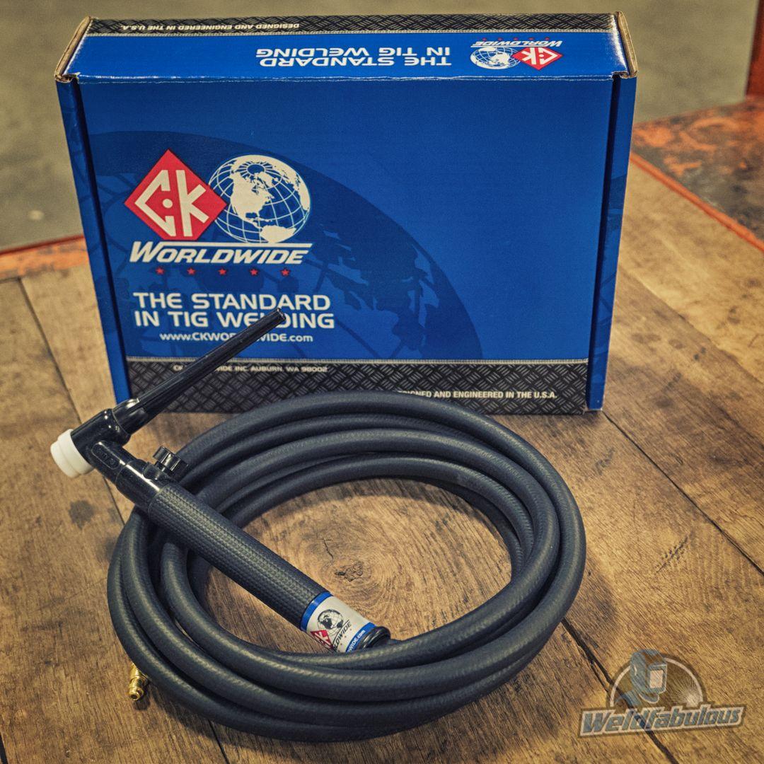 CK17 Air Cooled Pencil TIG Torch Kit 150A 12.5/' 1-Pc CK17P-12-R RG
