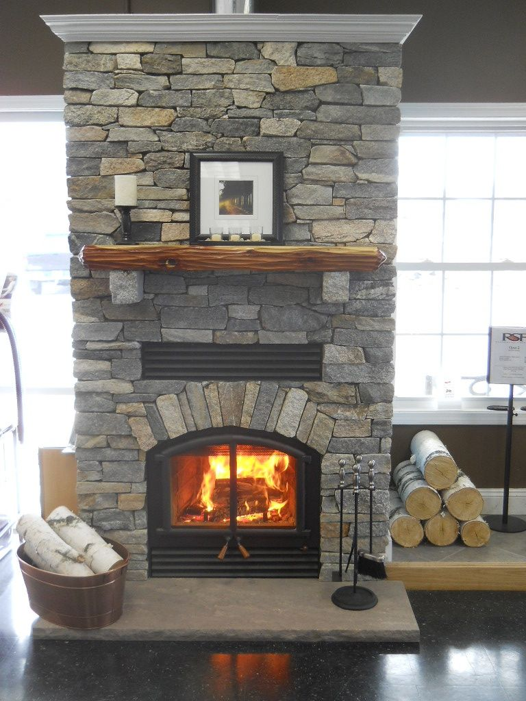 Rsf opel 2 wood fireplace with boston blend ledge stone and cedar rsf opel 2 wood fireplace with boston blend ledge stone and cedar mantel teraionfo