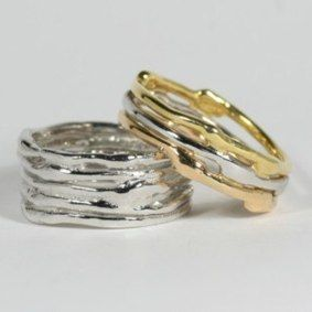 Platinum Twister Ring from 1146 18ct Three Colour Gold Cyclone 3