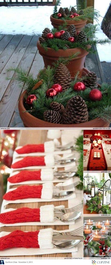 Christmas Decorations Genius! mini stockings to hold ...