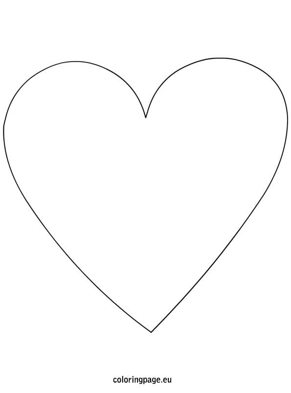 Super Sized Heart Outline Extra Large Printable Template Heart