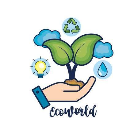 Ecologia De La Ecologia Para La Ilustracion De Vector De Cuidado De Medio Ambiente Natural Medio Ambiente Dibujo Medio Ambiente Natural Imagenes Del Medio Ambiente