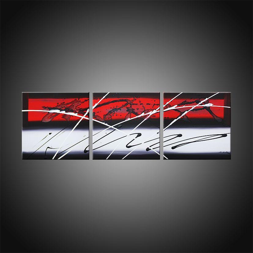 Tableau abstrait triptyque Pleione, composé de 3 toiles cette oeuvre ...