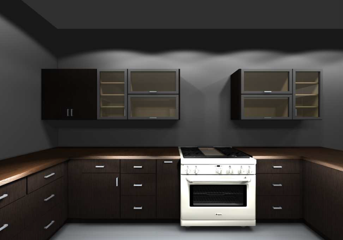 By Using Both Horizontal And Vertical Glass Cabinets The Glamorous Kitchen Design Software Ikea Inspiration