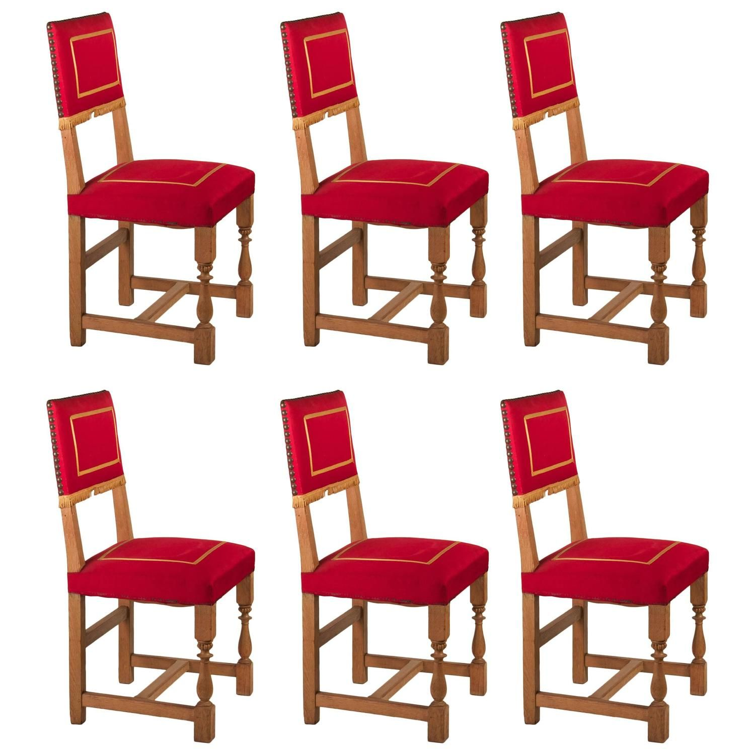 Terrific Set Of Six 1Stdibs Dining Room Chairs 1940S Dining Caraccident5 Cool Chair Designs And Ideas Caraccident5Info