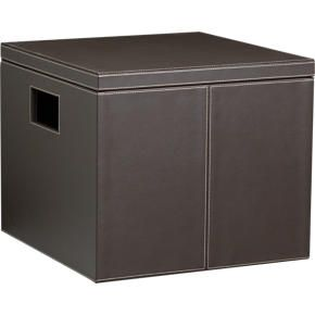 faux leather file box whinged lid - Decorative File Boxes