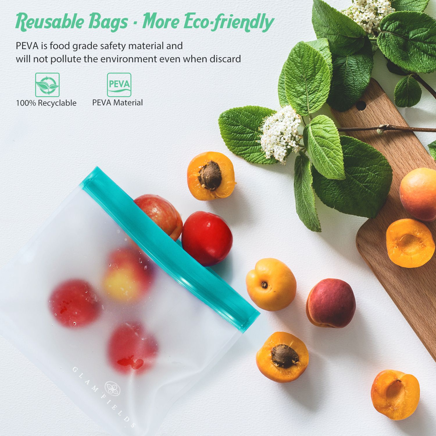 Use One Bag To Solve All Your Food Storage Problems Biodegradable Products Bag Storage Reusable Bags