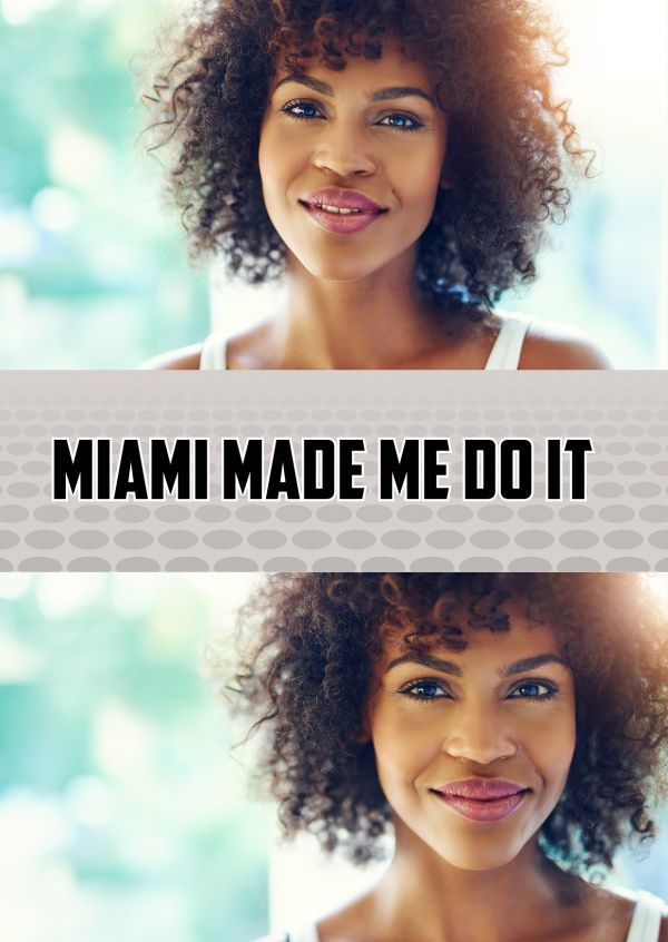 """""""Miami made me do it"""" or another one of our 8000+ designs as a real postcard worldwide! We offer the right card for every occasion – like """"Vacation Greetings"""""""