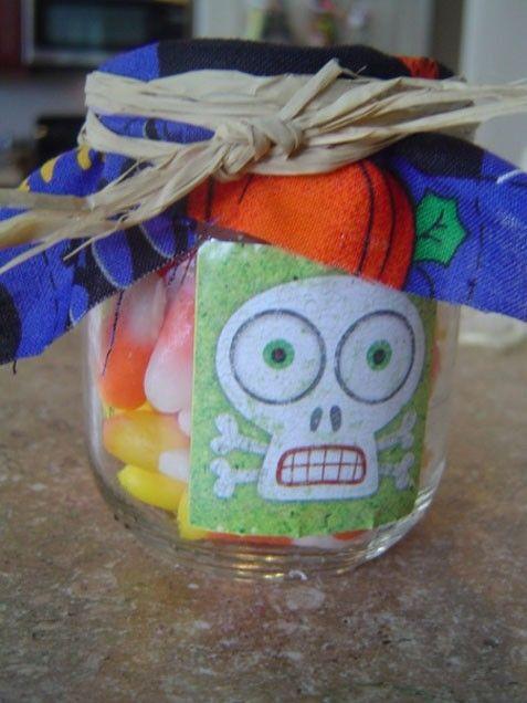 Halloween baby food jars food craft halloween crafts crafty - halloween crafts ideas