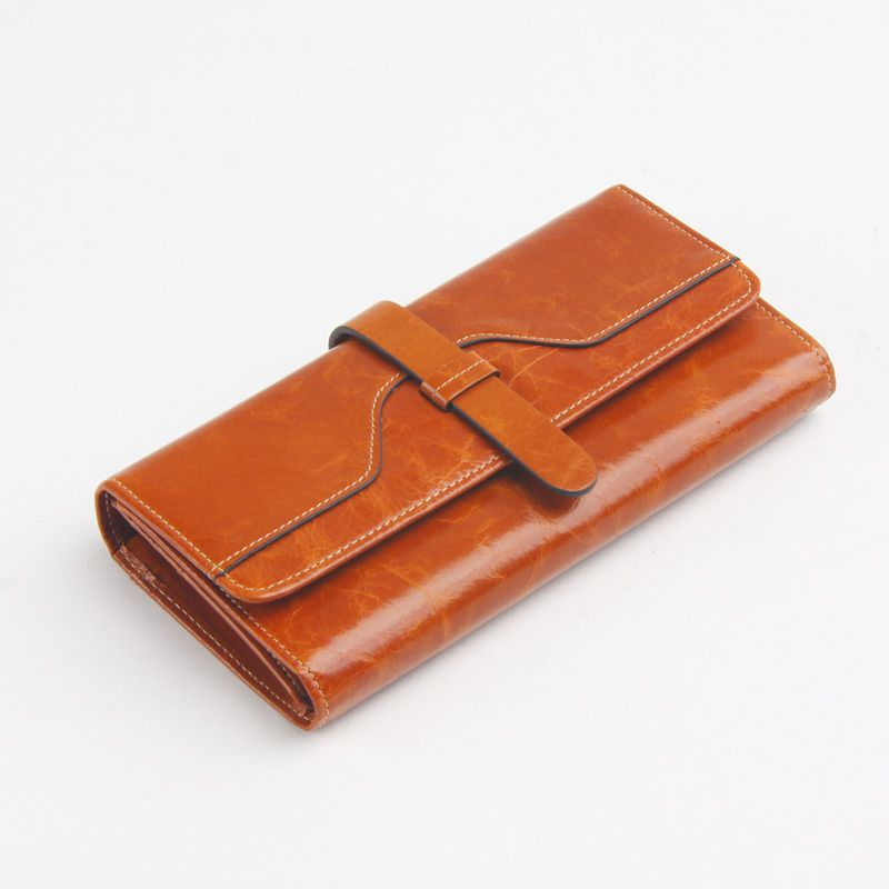 Leather Slimfold Wallet - PANDA WALLET by VIDA VIDA Hi74B
