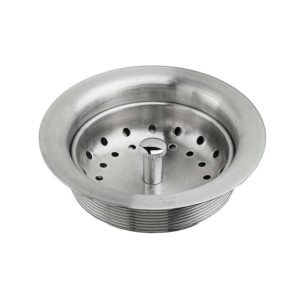 American Standard Kitchen Sink Drain With Strainer In Stainless Steel 9028000 075 The Home Depot Sink Drain American Standard Sinks Stainless Steel Accessories