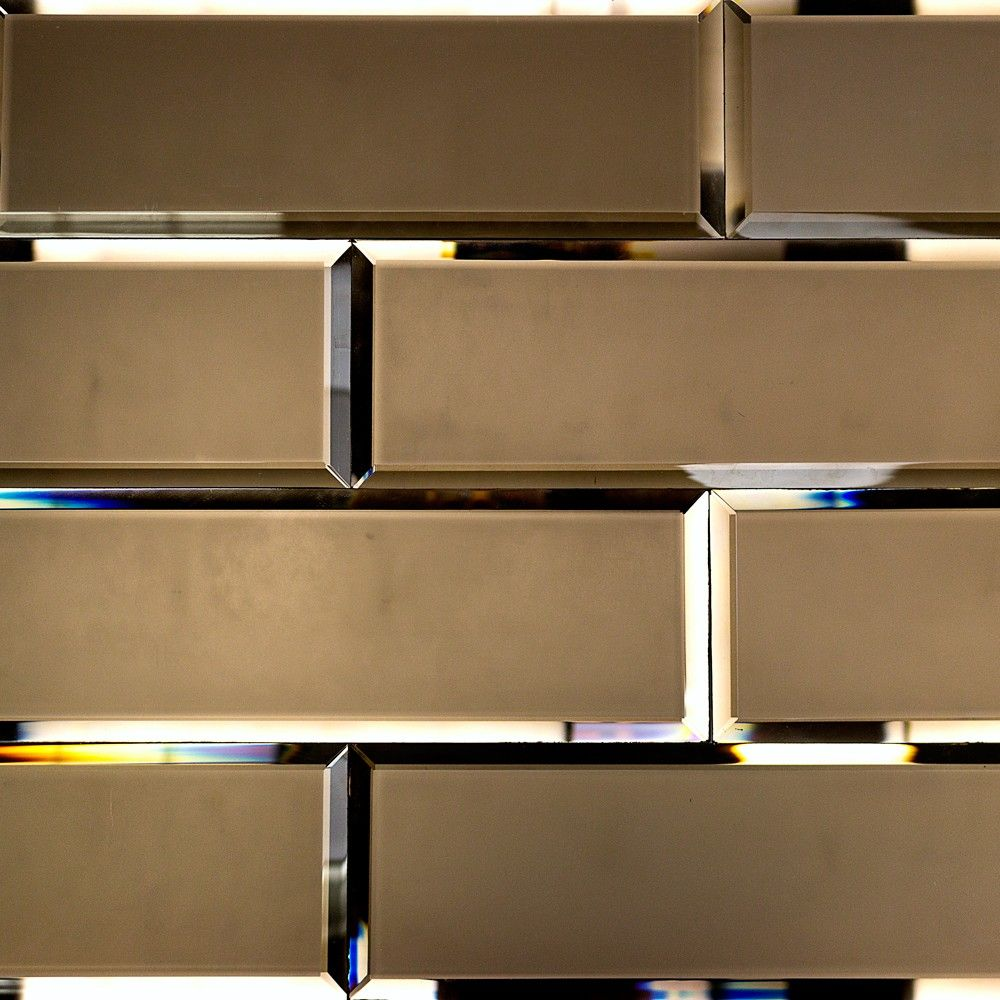 Bronze Beveled 4x12 Mirror Tile In 2020 Mirror Tiles Mirrored Subway Tile Beveled Mirror