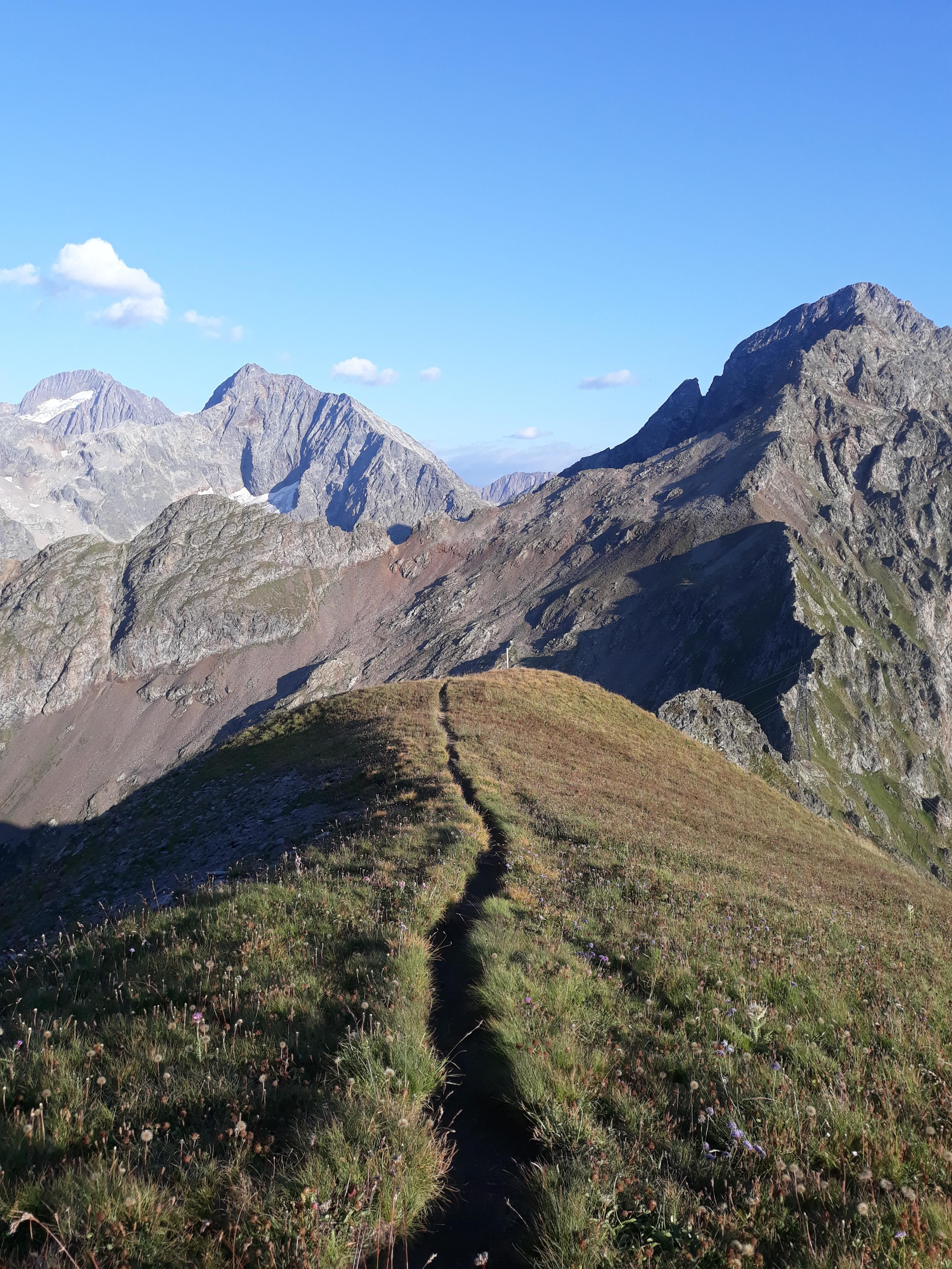 Ridge trail in Parc des Écrins France Camping and hiking