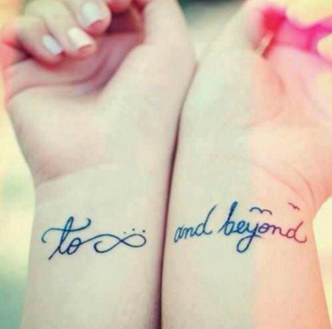 Love Tattoos For Couples Quotes Cute To Infinity And Beyond Tattoo  Tatts & Accessories
