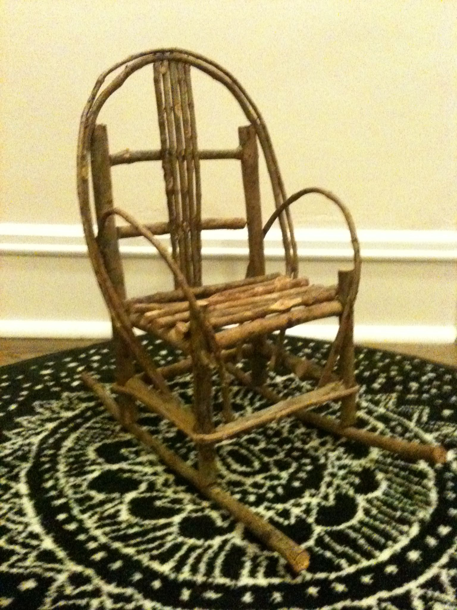 Rustic Tree Branch Doll Rocker Available for sale to you