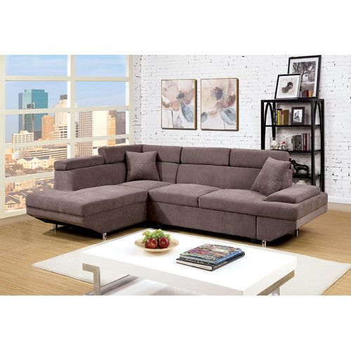Found it at Wayfair - Nicole Sectional New Home Pinterest - Brown Couch Living Room