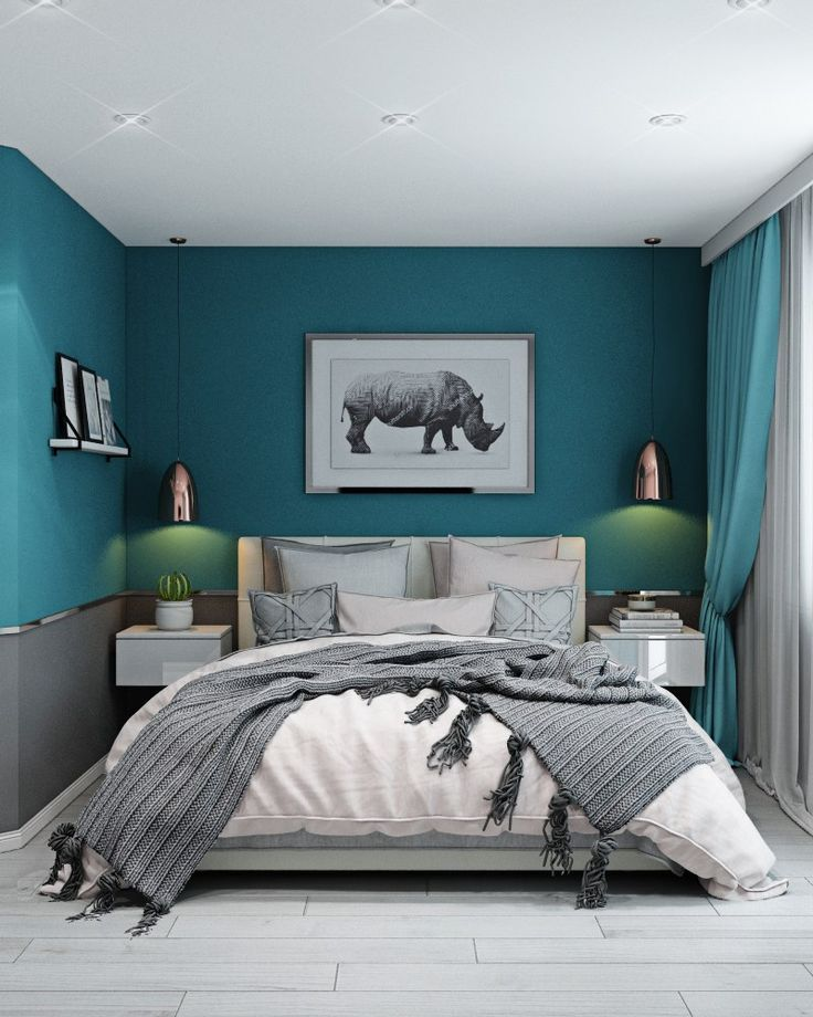 #Turquoise bedroom (notitle) #bedroomideasforsmallroomsforcouples
