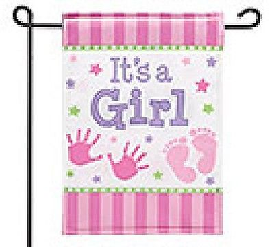 New Personalized Its a Girl Flag! Baby Gift, Baby Announcement, Baby Decoration