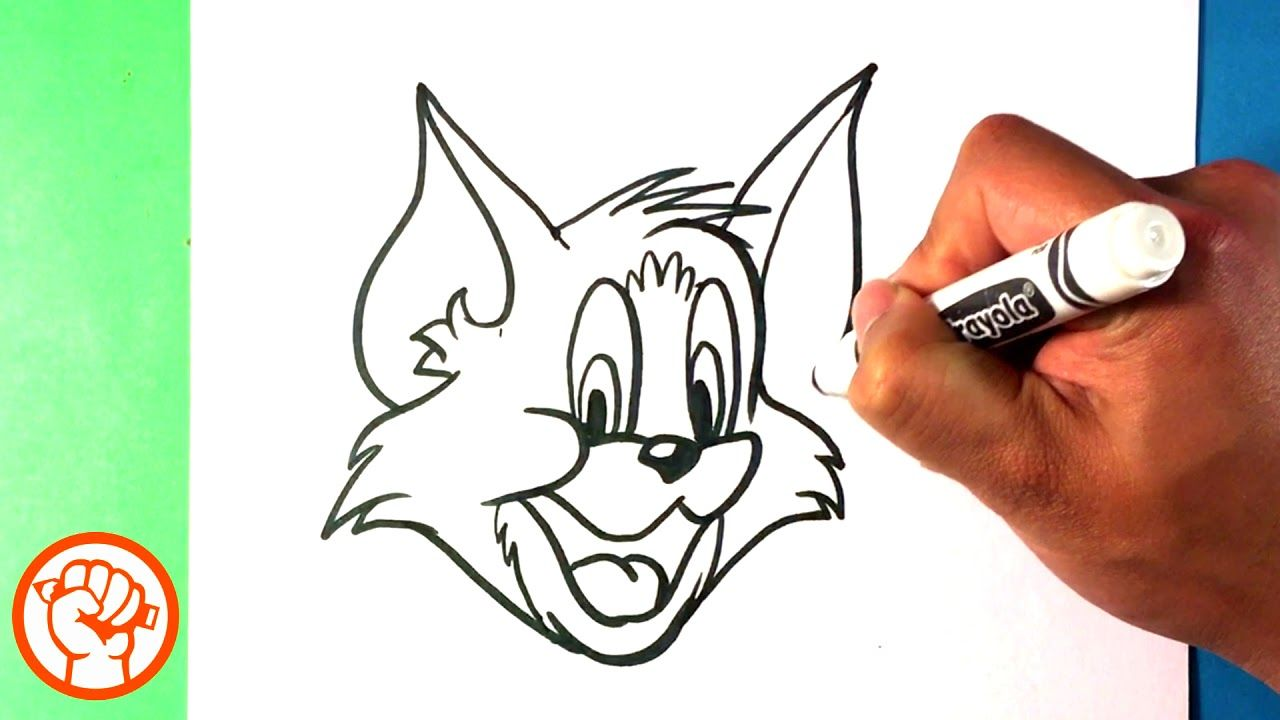How to draw tom and jerry tom drawing step by step for