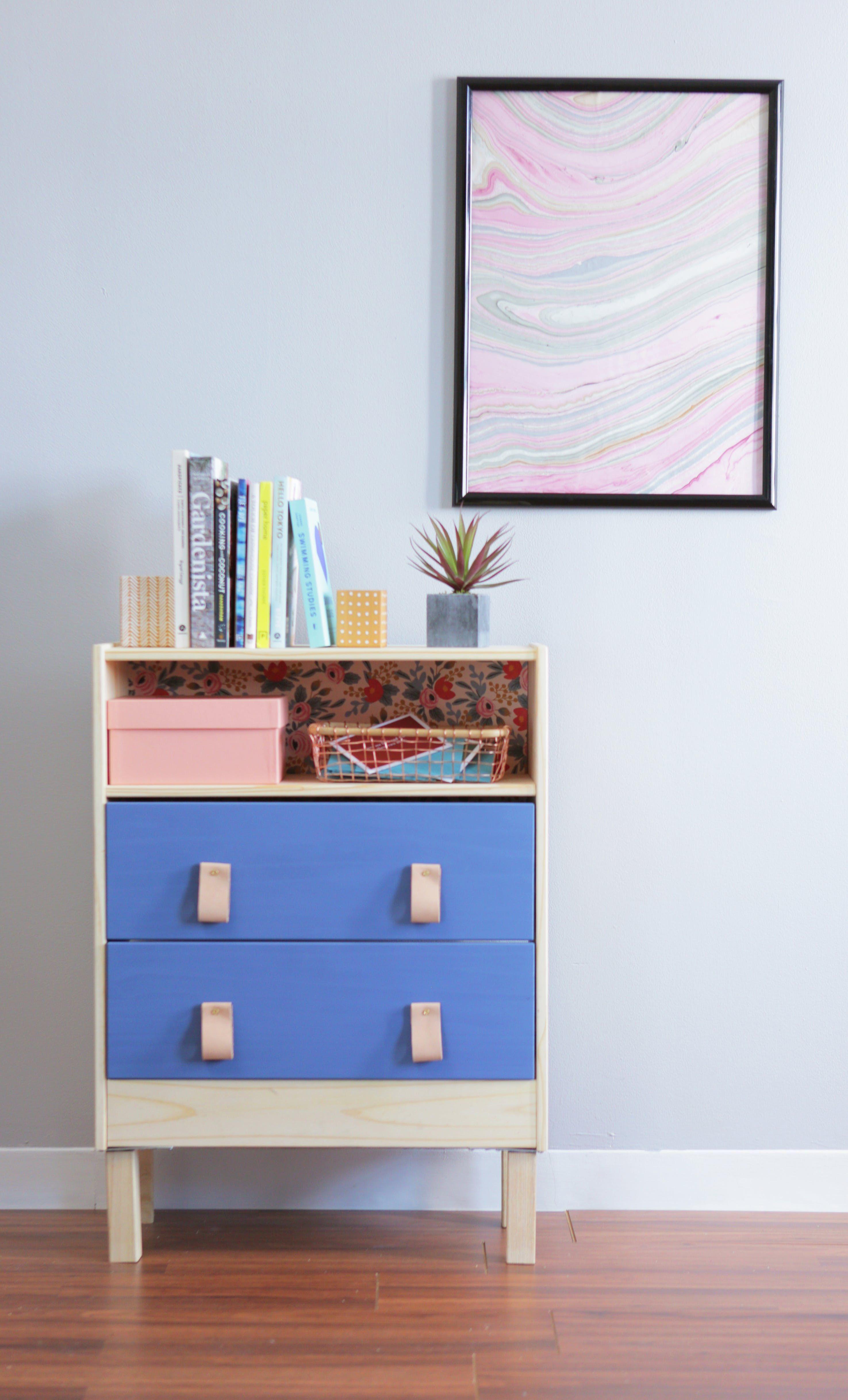 We Hacked The 35 Rast Dresser Two Ways Hy Modern And Bone Inlay Video From Apartment Therapy