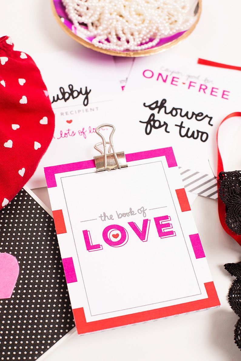 """DIY Anniversary Greeting Cards & """"The Book of Love"""" Coupon Book // Great anniversary gift ideas!"""