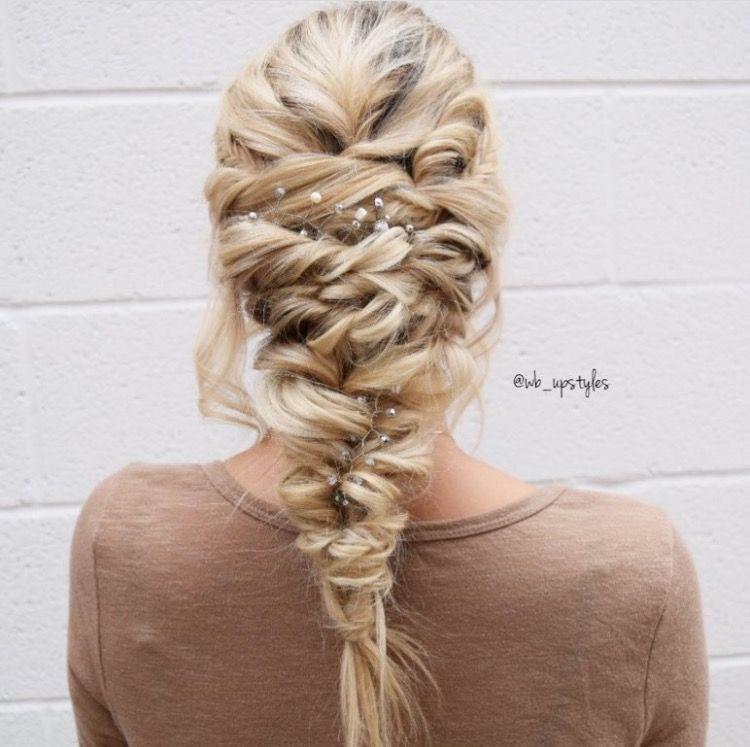 Wedding Hairstyle Hashtags: Topsytail Mermaid Braid! Hair By @wb_upstyles Luxe Salon