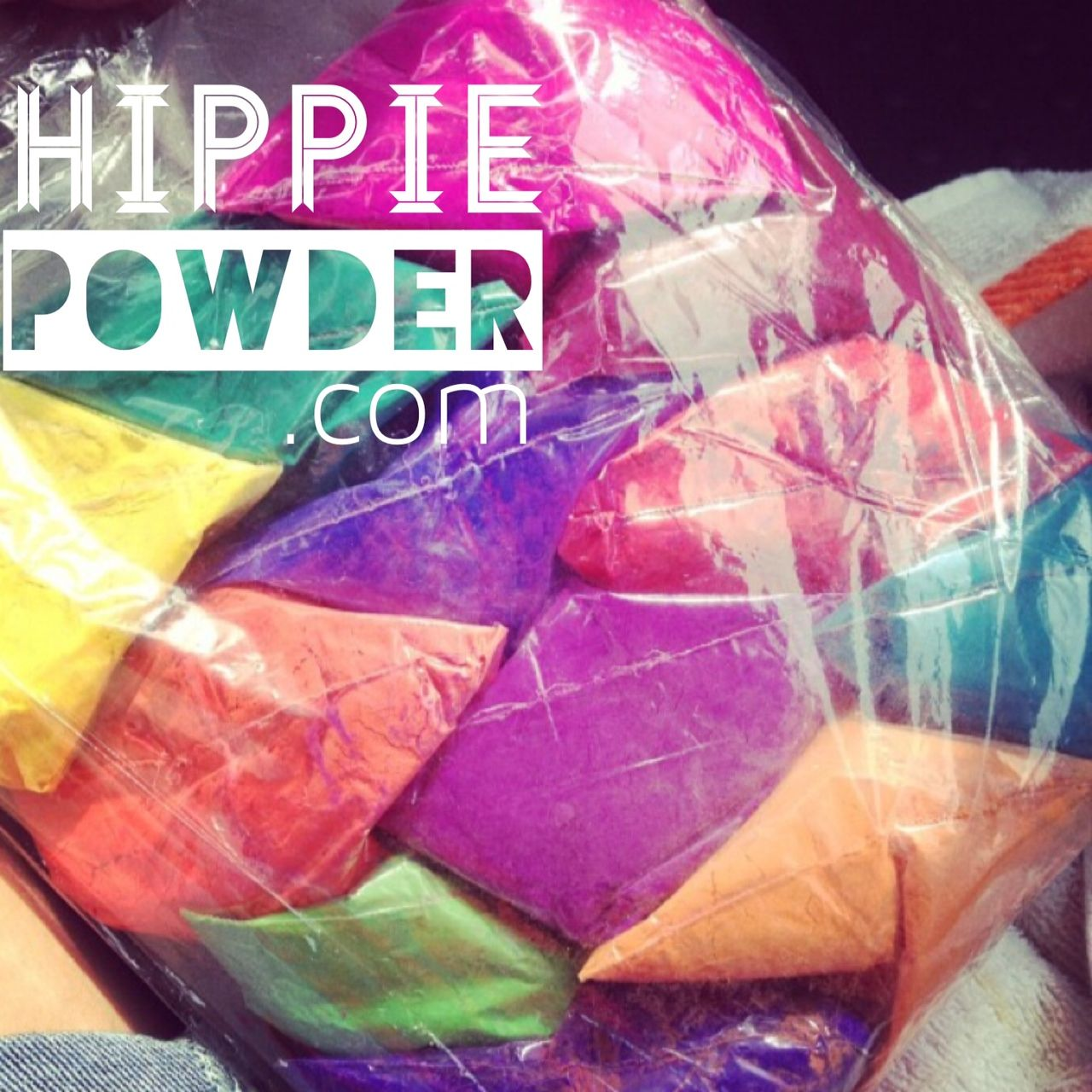 packets of colored cornstarch by hippie powder - Color Packets