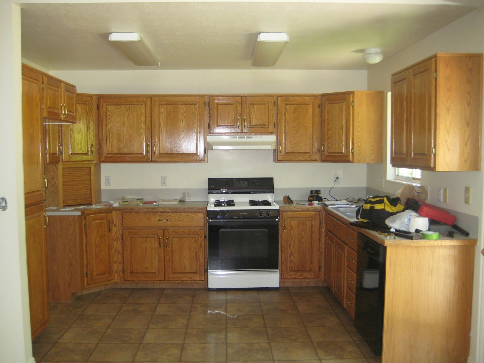 Paint Colors For Kitchen With Honey Oak Cabinets  Home Extraordinary Kitchen Designs With Oak Cabinets Inspiration Design
