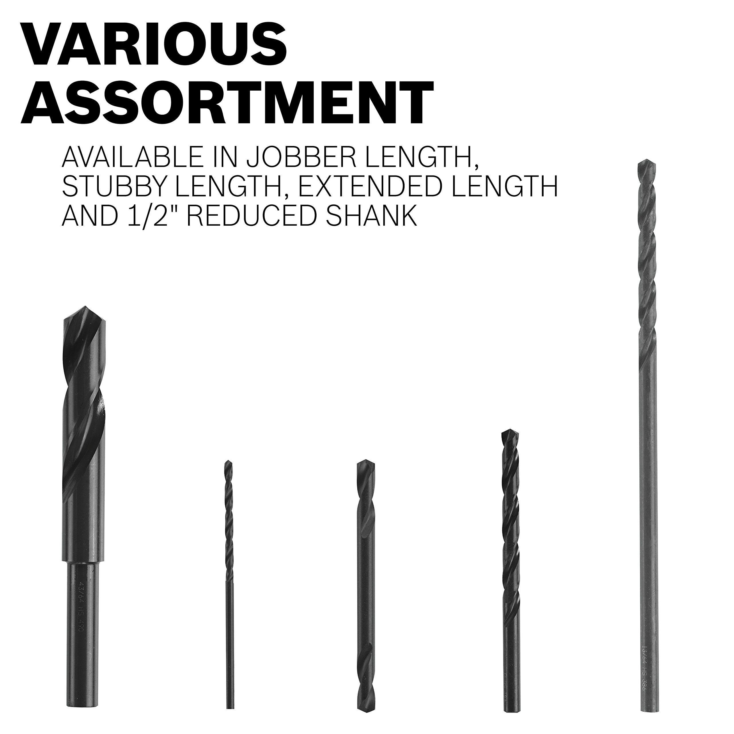 x 6 In Fractional Reduced Shank Black Oxide Drill Bit Bosch BL2171 11//16 In