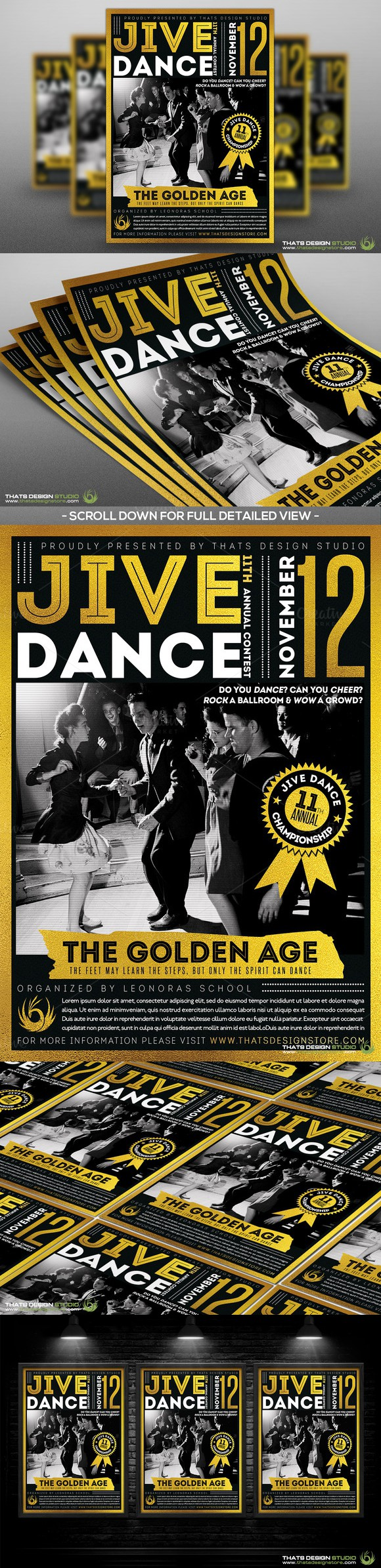 Jive Dance Flyer Template. Flyer Templates. $9.00 | Flyer Templates ...
