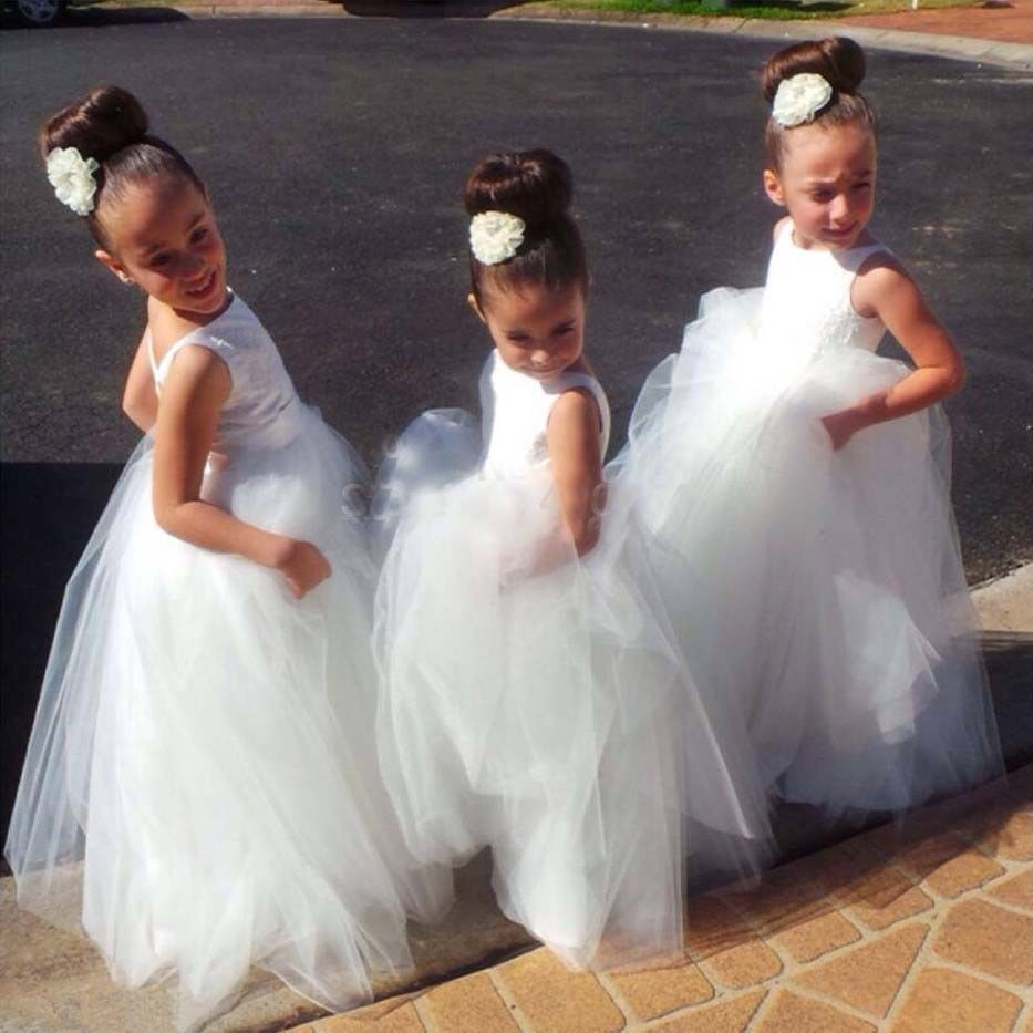 Find More Flower Girl Dresses Information About Cute White Flower