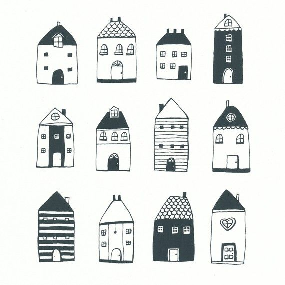 Hey, I found this really awesome Etsy listing at https://www.etsy.com/listing/67900139/little-houses-original-screenprint-hand