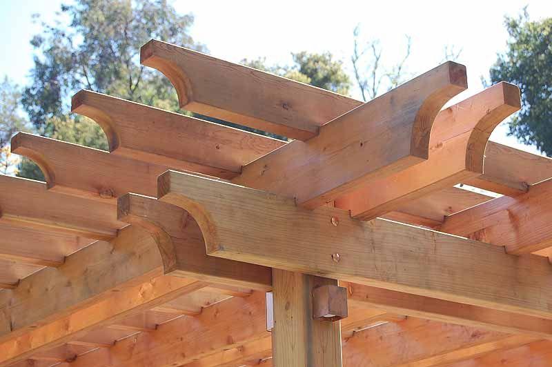 redwood end cuts for arbor in saratoga californa garden. Black Bedroom Furniture Sets. Home Design Ideas