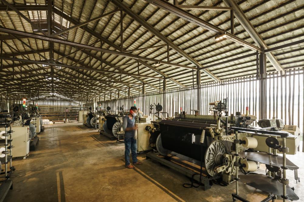 Inside the factory, Amber Denim Loom Shed, Gazipur
