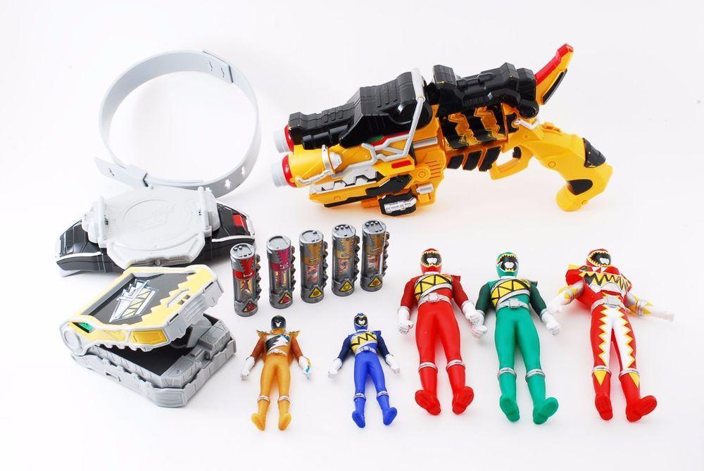 POWER RANGERS Dino Charge Kyoryuger DX Revolver Morpher Gun Lot Energems BANDAI